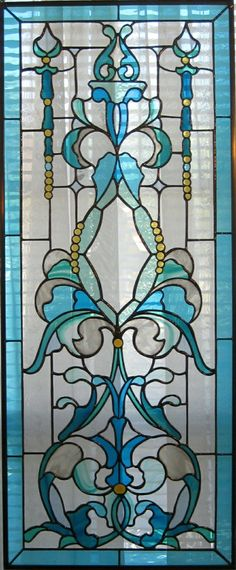 Tiffany turquoise stained glass