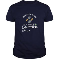 My Happy Place Is My Garden Great Gift For Any Garden Lover T-Shirts, Hoodies, Sweaters
