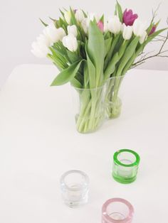 Iittala Aalto vase and Kivi votives.
