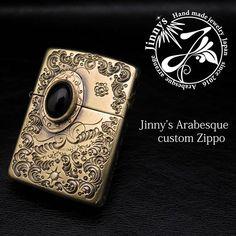 Jinny's arabesque custom Zippo #zippo#zippolighter #oillighter #ライター#オイルライター#カスタム#アラベスク#彫金#彫り#イーグル#唐草#ジッポ#福島#郡山#jinnys#喜び工房