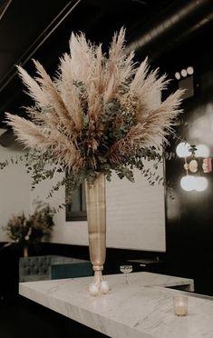 Boho Wedding, Floral Wedding, Fall Wedding, Rustic Wedding, Wedding Flowers, Tall Wedding Centerpieces, Wedding Decorations, Grass Centerpiece, Vase Deco