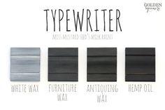Typewriter Finishes #mmsmilkpaint #typewriter
