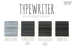 Typewriter Finishes #mmsmilkpaint #typewriter