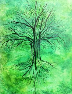 Green Tree  40 x 30 Acrylic on canvas      Artist unknown - please get in touch so we can thank you!  SOLD
