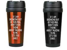 Too Early 16oz Travel Mug by ULEKstore on Etsy