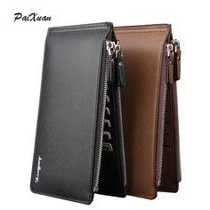 新しい高級2015財布男性財布有名なブランド男性カードホールド電話ポケット革puバッグメンズ財布財布carteira cuzdan