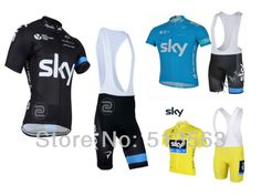 2014 Newest Tour de France sky Team summer rock racing Cycling jersey and bib shorts bicycle/bike/riding/cycling clothing
