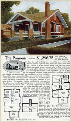 The Pomona  ALADDIN HOME PLANS FOR 1916