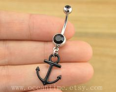 anchor Belly Button jewelry, anchor belly button ring,Navel Jewelry,anchor bellyring,little anchor,friendship jewelry on Etsy, $4.99