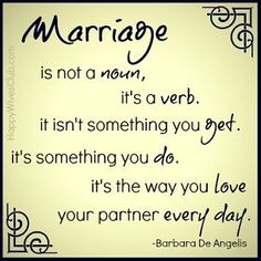 Marriage is a Verb