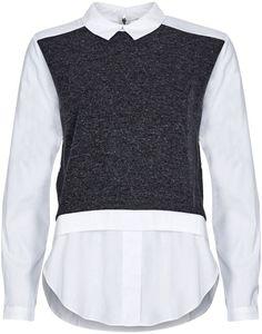 Stefanel skjorte hvid Pulz Jeans