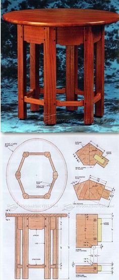 Small Table Plans - Furniture Plans and Projects - Woodwork, Woodworking, Woodworking Tips, Woodworking Techniques Small Woodworking Projects, Woodworking Jigsaw, Woodworking Furniture Plans, Small Wood Projects, Woodworking Patterns, Diy Projects, Furniture Projects, Wood Furniture, Mission Style Furniture