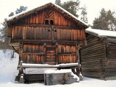 Old wooden house near Oslo.