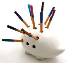 Hedgehog Ceramic Pencil Holder