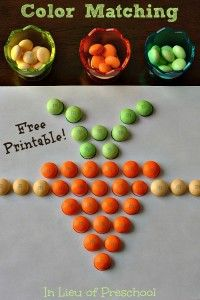 A yummy easter color matching activity that works for fine motor, visual-motor and lots of other skills from In Lieu of Preschool!