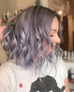 Ash Gray Hair Color, Purple Grey Hair, Grey Hair Dye, Long Gray Hair, Green Hair, Dyed Hair, Hair Colour, White Hair, Lavender Grey Hair