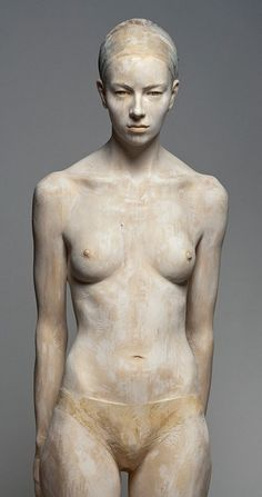 Hyper realistic wood sculpture by Bruno Walpoth