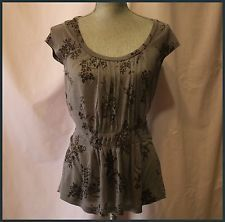 Anthropologie Blouse Size S By Ric Rac Floral Cap Sleeves Casual Clubwear