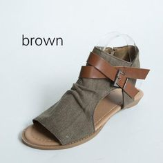 b95f9f97e499b6 Women Plus Size Denim Cloth Adjustable Buckle Sandals