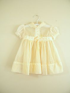 Vintage 1950s Baby Dress / Dotted Swiss / by ThriftyVintageKitten, $18.00