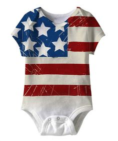 Loving this White American Flag Sublimation Bodysuit - Infant on #zulily! #zulilyfinds