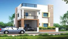 Tokeo la picha la elevations of independent houses Garage House Plans, New House Plans, Modern House Plans, Small House Plans, Small House Exteriors, Modern Small House Design, House Front Design, Building Elevation, House Elevation