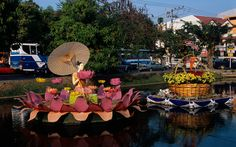 Chiang Mai, Thailand   The annual flower festival in Chiang Mai—a region known for its traditional floral art—doubles as a beauty pageant. Alongside marvelously bright flower floats—sculpted of African marigolds, globe amaranth, ban chun, and chrysanthemums—young Thai women file through the streets in floor-length gowns holding baskets of orchids, while uniformed local high school marching bands bring up the rear. After the parade, pick up a bundle of fresh-cut lilies along the Ping River at…