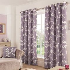 Buy George Home Thistle Eden Floral Eyelet Curtains from our Curtains range today from George at ASDA.