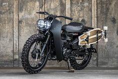 Custom Moped, Custom Cafe Racer, Custom Bikes, Skateboard Rack, Honda Africa Twin, Bobber Motorcycle, Motorcycles, Scooter Bike, Retro Bike