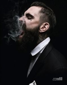 Ricki Hall -- as much as I don't like beards I can't stop looking at this man.
