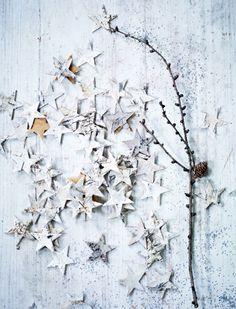 Christmas star, white | Xmas decoration . Weihnachtsdekoration . décoration noël | @ indecora |