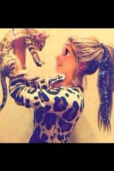 Anna she loves cats and she and her cat can not be seperated