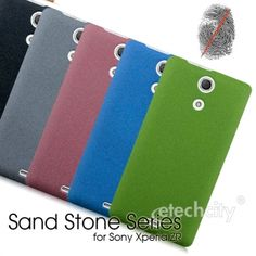 Sand Stone Series #Anti-Fingerprint PC Case for #Sony Xperia ZR #C5502 [PCAF-SPAZRC55] - $15.00