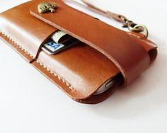 iPhone 6s 6s Plus 5 5s 5c Sleeve Brown Leather by starryday