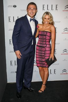 Fashion's Finest Hit the Inaugural ELLE Style Awards In Sydney: Sam Burgess and Phoebe Hooke