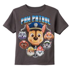 Boys 4-7 Paw Patrol Chase, Marshall & Rubble Graphic Tee, Boy's, Size: 5-6, Grey (Charcoal)