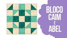 Patchwork Sem Segredos (Ana Cosentino): aula 114 (29/03/2018) - Bloco Caim e Abel Caim E Abel, Pattern Blocks, Quilt Blocks, Quilts, Patterns, Videos, Youtube, Scrappy Quilts, Block Patterns
