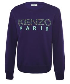Men's Purple Liberty Print Logo Sweatshirt, Kenzo. Shop the latest jumpers from the Kenzo collection online at Liberty.co.uk
