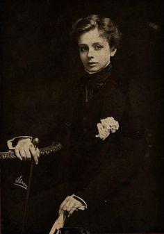 Cross-dressed Victorian Lady