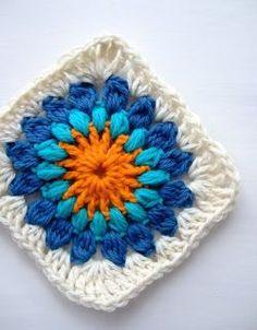 Hooked on crochet: Granny square / Quadradinho de crochê