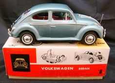 icollect247.com Online Vintage Antiques and Collectables - Volkswagen Sedan Scale Model Japan Toys-Tin Metal Toys, Tin Toys, Antique Toys, Vintage Antiques, Miniature Dolls, Miniature Houses, Vintage Toys For Sale, 1950s Toys, Reborn Dolls