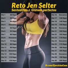 Consigue unos gluteos perfectos gracias al reto de una de las modelos fitness más famosas de la red, la bella Jen Selter.
