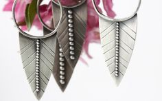 FEATHER BLADES ARE HERE! Artisan handmade earrings are each slightly different and super fierce!