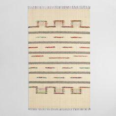 5'x8' Bleached Jute and Woven Chindi Safara Area Rug - v1