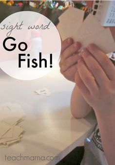 Have a little one that's ready to start kindergarten and ready to learn to read? This sight word Go Fish game is the perfect way to take the beginning reading phase and the interest in reading and words with a fun educational word game!  Or, if you've got an emerging reader who needs more word reading practice, this is the game for you!  #learning #kindergarten #reading #literacy #earlychildhood #teaching #words #preschool #kindergarten #activities