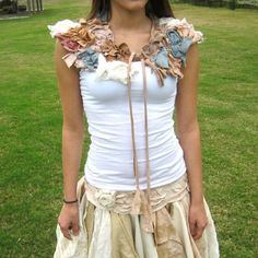 made to order - to adorn the neck and body / Collar Neck Wrap Shrug / fairy costume. $67.99, via Etsy.