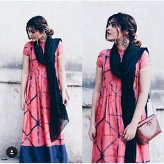 Pink Tie and Dye Dress Rs.2,000 vastra by milonee