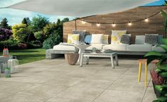 Large-format pavers are an undeniable trend in contemporary outdoor patio design. Learn how Belgard can add these fashionable patio pavers to your yard. Large Backyard Landscaping, Outdoor Patio Designs, Outdoor Decor, Patio Ideas, Concrete Patios, Pavers Patio, Design Jardin, Outdoor Shade, Outdoor Living Areas