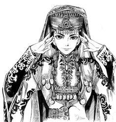 I love the beautiful, detailed stitch work and geometric designs of Otoyomegatari.