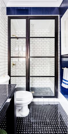shower/shower doors and floor Gentleman's Bath by Evars + Anderson from San Francisco Design House 2015